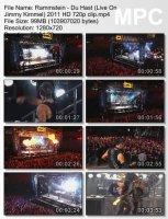 Rammstein-Du Hast (Live On Jimmy Kimmel) HD 720p
