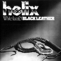 Helix-White Lace And Black Leather
