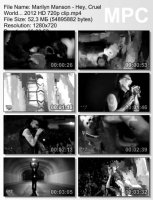 Marilyn Manson-Hey, Cruel World... HD 720p