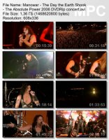 Manowar — The Day The Earth Shook, The Absolute Power (DVDRip) (2006)