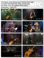 Gary Moore And Friends — One Night In Dublin Roll (BDRip HD 720p) (2005)