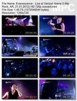 Evanescence-Live at Verizon Arena (Little Rock, AR) (HD 720p)