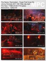 Rammstein-Feuer Frei! (Live On Jimmy Kimmel) HD 720p
