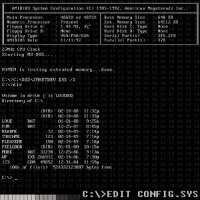 MASTER BOOT RECORD-C:\\>EDIT CONFIG.SYS
