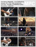 Megadeth-Live Gothenburg, Sweden HD 720p