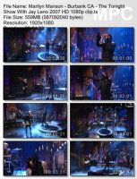 Marilyn Manson-Burbank CA - The Tonight Show With Jay Leno (HD 1080p)