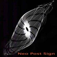 Clock DVA-Neo Post Sign