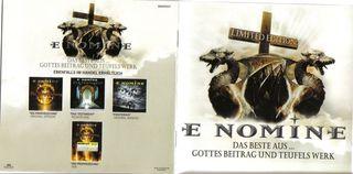 E NOMINE-Das Beste Aus... Gottes Beitrag Und Teufels Werk (2 CD)