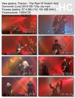 Клип Therion — The Rise Of Sodom And Gomorrah (Live) (HD 720p) (2014)