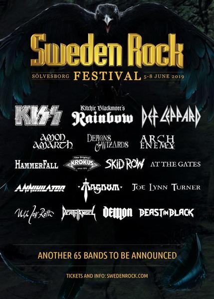 KISS выступят хэдлайнерами фестиваля 'Sweden Rock'-2019.