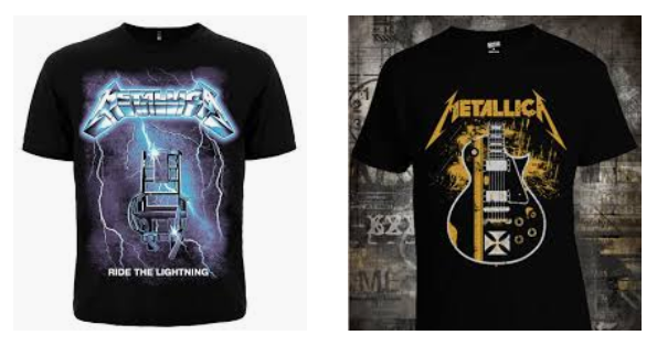 Футболки с изображением металл-группы Metallica